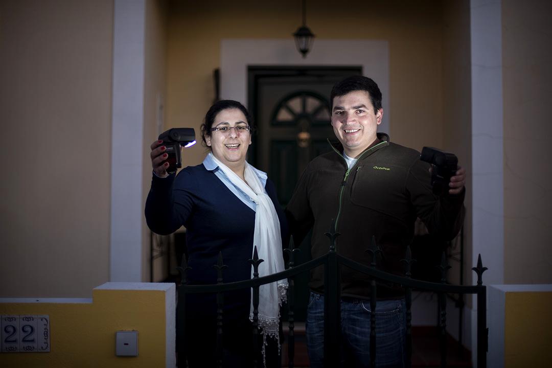 Cláudia e Rui Mimoso, casados. Moram em Marvão