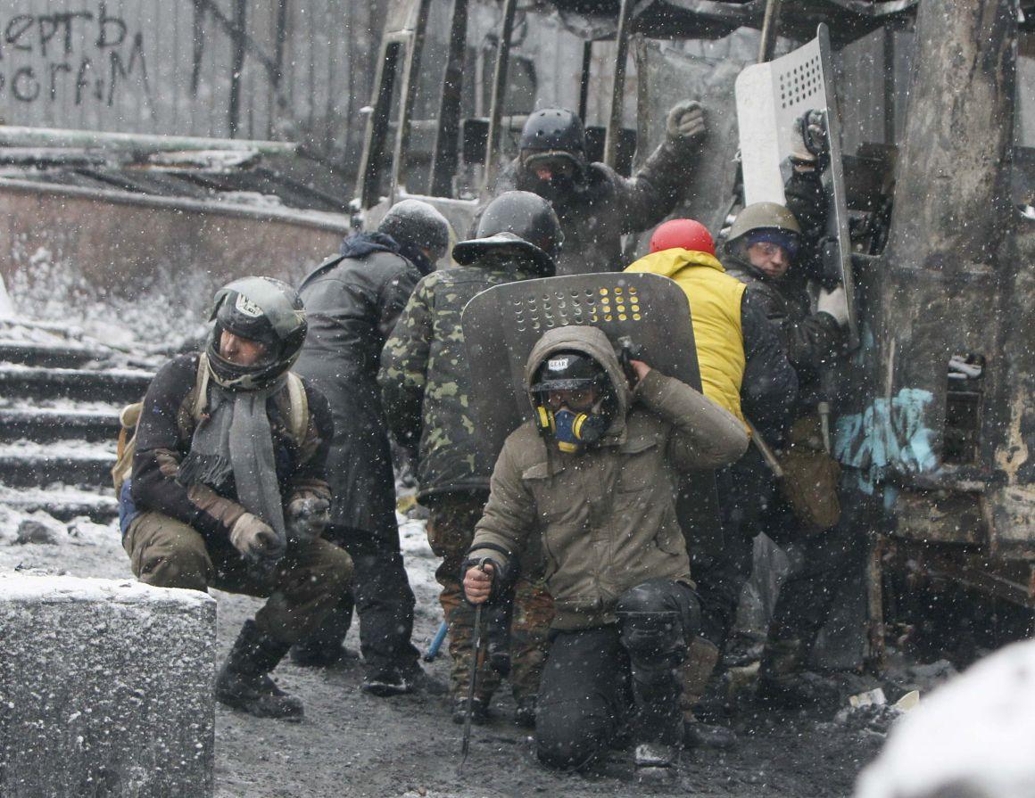 Espectaculares imágenes de los disturbios en Kiev 821727?tp=UH&db=IMAGENS