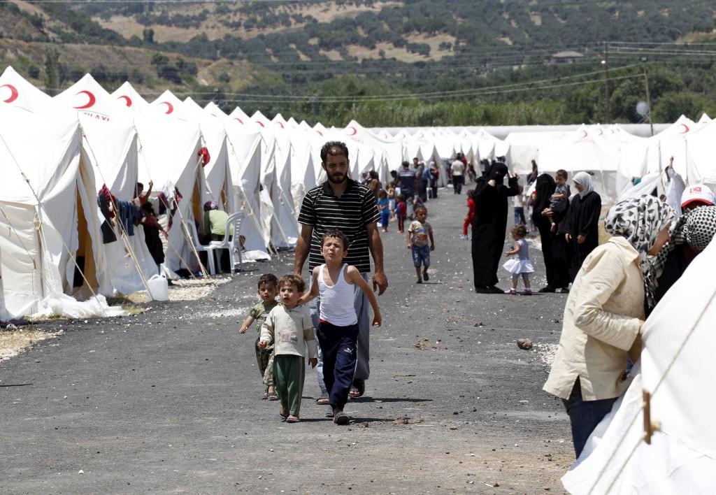 Um campo de refugiados na província turca de Hatay Umit - Bektas/Reuters